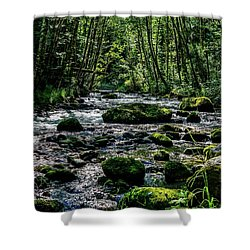 Crystal Clear Waters Shower Curtain