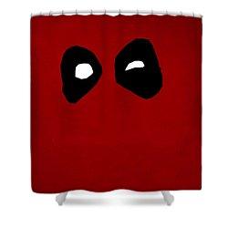 Deadpool Shower Curtain by Kyle West