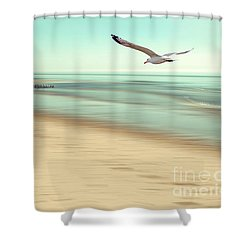 Shower Curtain featuring the photograph Desire Light Vintage by Hannes Cmarits