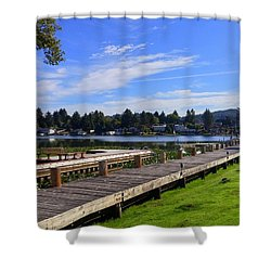 Devils Lake Oregon Shower Curtain