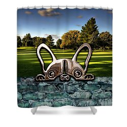 Dog And Landscapes Collection Shower Curtain
