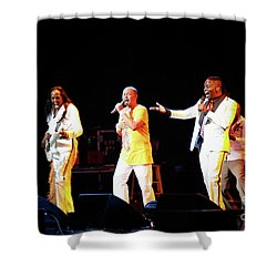 Earth Wind And Fire Shower Curtain by April Sims