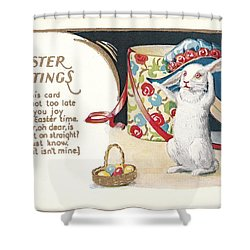 Easter Greetings Shower Curtain by David and Lynn Keller