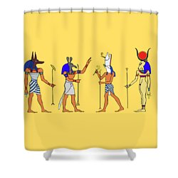 Egyptian Gods And Goddess Shower Curtain