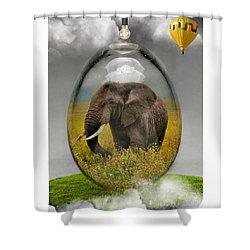 Elephant Art Shower Curtain
