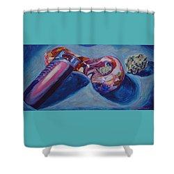 3 Essentials Shower Curtain by Anita Toke