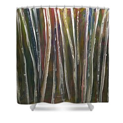 Shower Curtain featuring the painting Fantasy Forest Series by Dolores  Deal