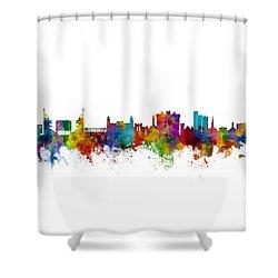 Fayetteville Arkansas Skyline Shower Curtain by Michael Tompsett