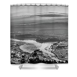 Shower Curtain featuring the photograph Ferrol's Ria Panorama From Mount Ancos Galicia Spain by Pablo Avanzini