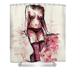 Figure Study Shower Curtain by Rachel Christine Nowicki