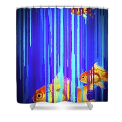 Shower Curtain featuring the photograph 3 Fish by James Bethanis