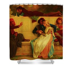 Shower Curtain featuring the painting Florentine Poet by Alexandre Cabanel