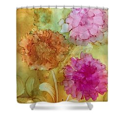 3 Flowers Shower Curtain