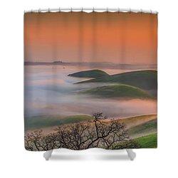 Fog At Sunrise Shower Curtain