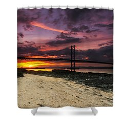 Forth Road Bridge Shower Curtain