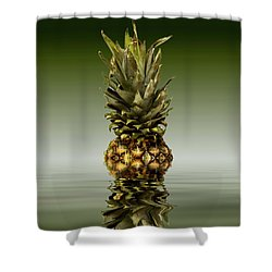 Shower Curtain featuring the photograph Fresh Ripe Pineapple Fruits by David French