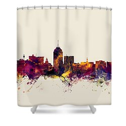 Fresno California Skyline Shower Curtain