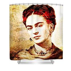 Frida Shower Curtain by J- J- Espinoza