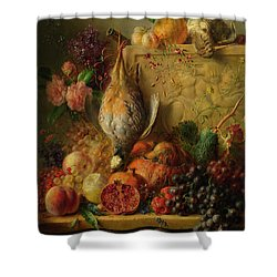 Fruit, Flowers And Game Shower Curtain