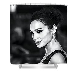 Gal Gadot Print Shower Curtain by Best Actors