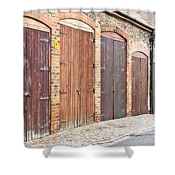 Garage Doors Shower Curtain