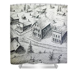 Garnet Ghost Town Montana Shower Curtain by Kevin Heaney