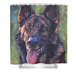 German Shepherd Shower Curtain by Lee Ann Shepard