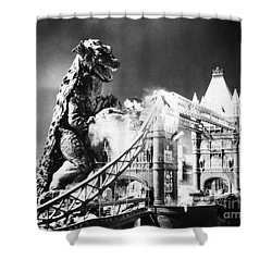 Godzilla Shower Curtain by Granger