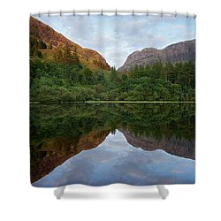 Golden Light In Glencoe Shower Curtain