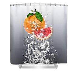 Grapefruit Splash Shower Curtain by Marvin Blaine