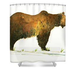 Grizzly Brown Bear Shower Curtain