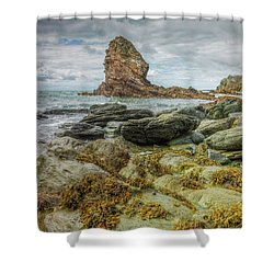 Shower Curtain featuring the photograph Gwenfaens Pillar by Ian Mitchell
