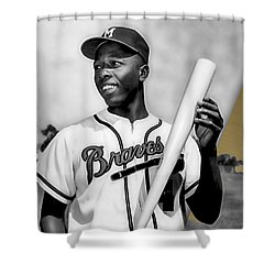 Hank Aaron Collection Shower Curtain