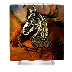 Horse Art Collection Shower Curtain