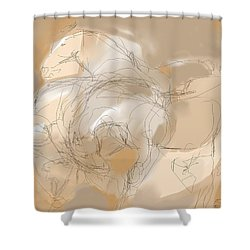 3 Horses Shower Curtain by Mary Armstrong