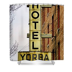 Hotel Yorba Shower Curtain by Gordon Dean II