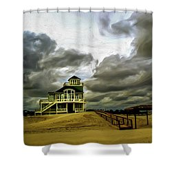 House At The End Of The Road Shower Curtain