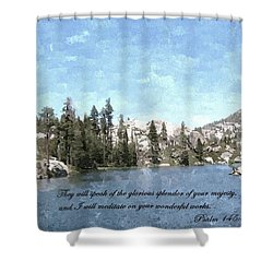 Inspirations 1 Shower Curtain by Sara  Raber