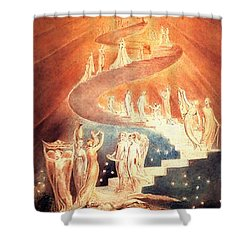 Jacobs Ladder Shower Curtain