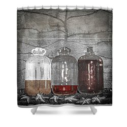 3 Jugs Shower Curtain by Marty Garland