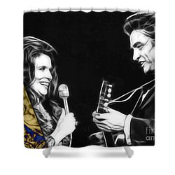 June Carter And Johnny Cash Collection Shower Curtain