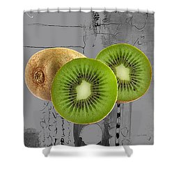 Kiwi Collection Shower Curtain by Marvin Blaine