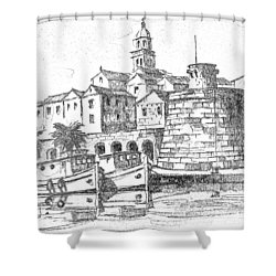 Korcula Croatia Shower Curtain