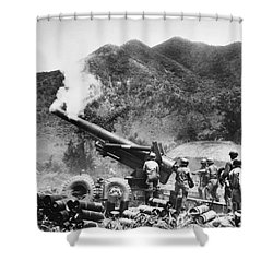 Korean War: Artillery Shower Curtain by Granger