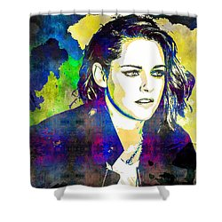 Kristen Stewart Shower Curtain by Svelby Art