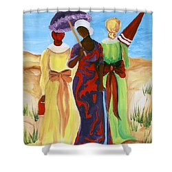 3 Ladies Shower Curtain