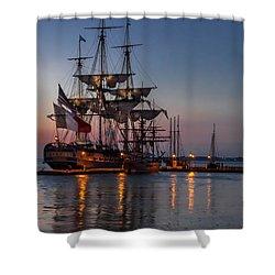 Lafayette's Hermione Voyage 2015 Shower Curtain