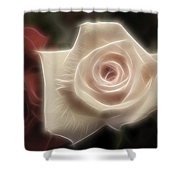 3 Little Roses For Patrice Shower Curtain by Kevin  Sherf