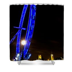 London Eye Night View Shower Curtain