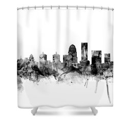 Louisville Kentucky City Skyline Shower Curtain